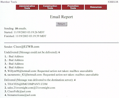 EZ-MailList, E-mail Report
