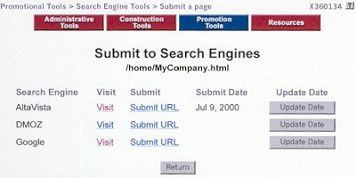 Submit to Search Engines
